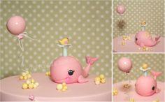Cute Whale Figurine / Cake Topper