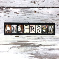 LAST NAME SIGN  Custom Wood Sign Letter by LettersOfLoveDesigns