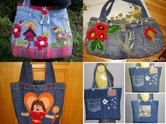 DIY Beautiful Handbag from Used Jeans  #diy #crafts