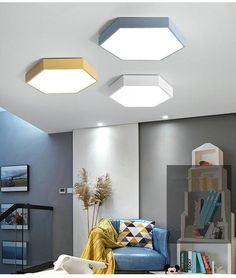 Add impressive modern Nordic style & bring brilliant light to your home with a stunning hexagonal ceiling mounted lamp! Made from high quality acrylic & iron. Ceiling Design Living Room, False Ceiling Design, Bathroom Ceiling Light, Office Ceiling Light, Home Ceiling, Plafond Design, Lumiere Led, Modern Decor, Modern Design