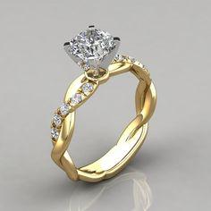 Princesse Cut Amethyst 18K Gold Filled Femme Fashion Bague de mariage Taille 6-10