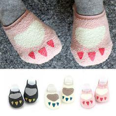 >> Click to Buy << DHBaby Kids Girls Non-slip Slipper Socks Soft Warm Coral velvet Warmers Socks 0-4Y #Affiliate