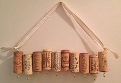 Adorable way to hang jewelry, this rack made from wine corks comes with an adjustable ribbon perfect for hanging on a wall at any height. Lightweight and sturdy, this rack is equipped with ten hooks and can hold multiple pieces on each. Corks range from local Virginia wines to corks all the way from France. Makes a great gift for wine and vintage lovers