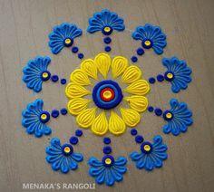 Easy Rangoli Designs Diwali, Indian Rangoli Designs, Rangoli Designs Latest, Rangoli Designs Flower, Rangoli Ideas, Colorful Rangoli Designs, Beautiful Rangoli Designs, Mehndi Designs, Easy Rangoli Patterns