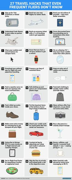 27 game-changing travel hacks every frequent flier should know!    #TammySearle #TammyAndFriends (scheduled via http://www.tailwindapp.com?utm_source=pinterest&utm_medium=twpin&utm_content=post30870980&utm_campaign=scheduler_attribution)