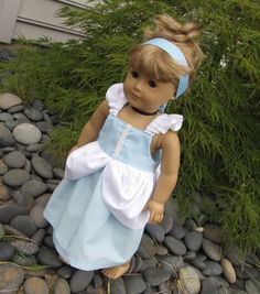 Tutorials for several American Girl sized doll princess dresses...lots of other good stuff on this blog!