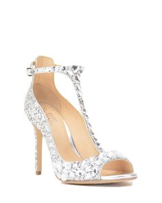 Shop Badgley Mischka shoes on our official website. Peruse elegant designer heels, wedges, flats, sandals and more, featuring signature styles and details. Rhinestone Wedding Shoes, Wedding Shoes Heels, Bridal Shoes, Silver Outfits, Cinderella Slipper, Badgley Mischka Shoes, Jeweled Sandals, Evening Shoes, Formal Shoes