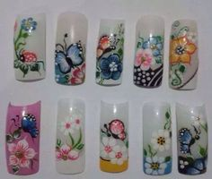 Nail Crazy Nails, Crazy Nail Art, My Nails, Spring Nails, Summer Nails, Autumn Nails, Fingernail Designs, Nail Art Designs, Nail Polish Art