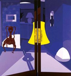 Patrick Caulfield, Bishops, 2004 This artist shows places where people like to spend time. What effect does he create by not showing the people?