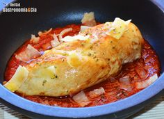 Pechuga de pollo con tomate frito y parmesano