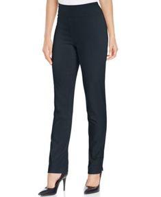 Charter Club Cambridge Tummy-Control Slim-Leg Pants, Only at Macy's