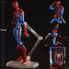 Amazing spiderman PVC kids movable movie cartoon boy Action Figure Model hand toy child anime Furnishing articles collection