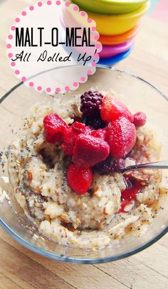 Honey Berry Malt-0-Meal With: Chia Seeds, Flax Seeds, Mixed Berries and Sliced Almonds!