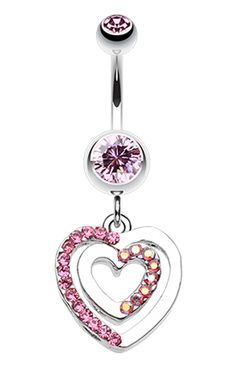 Heart Romance Belly Button Ring