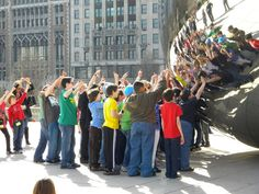 LOVE This shot of the bean; it's all about the kids!