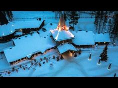 Santa Claus Village video: Village of Father Christmas in Rovaniemi in Lapland in by air Finland– flying reindeer Santa Claus Village, Santa's Village, Helsinki, Arctic Circle, Travel Videos, Father Christmas, Where To Go, Photos, Pictures