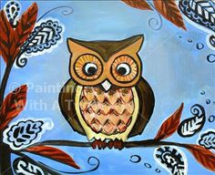 painting with a twist has an adorable owlie painting class...