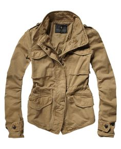 Scotch & Soda Fitted Military Jacket.