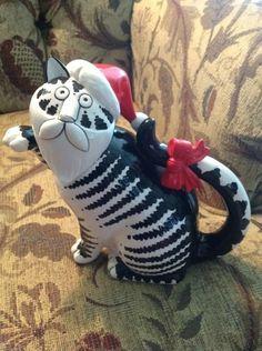 RARE Sigma B Kliban Christmas Santa Cat Teapot | eBay