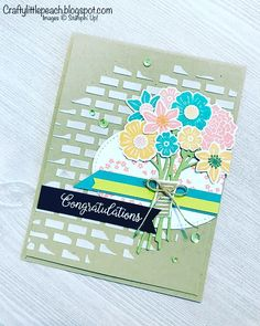 Stampin' Up! Beautiful Bouquet and embossing paste
