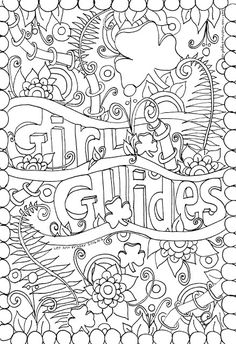 """Girl Guides Ferns"" doodle by Lee Ann Fraser 2016 Owl & Toadstool: Girl Guides and Scout Doodles"