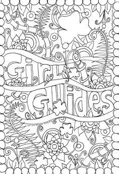 girl guides ferns doodle by lee ann fraser 2016 owl toadstool girl