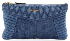 Miu Miu's denim biker clutch