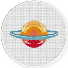 Charts Club Members Only: Colorful Planet Cross Stitch Pattern