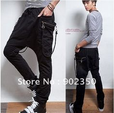 mens  pants fashion casual pants loose sarrouel pants big pocket sport trousers wholesale & retail  M -XL 165