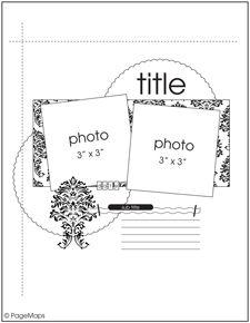 July PageMaps Sketch #5 - Scrapbook.com