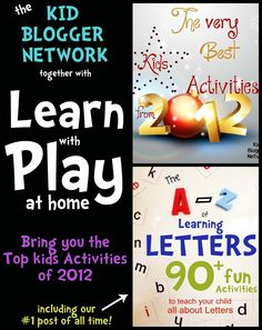 Very Best Kids Activities from 2012 including the A-Z of Learning Letters