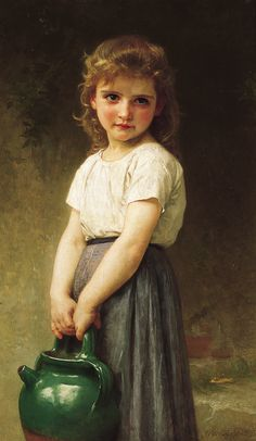 Going to the Well ~ William Adolphe Bouguereau ~  (French 1825-1905)
