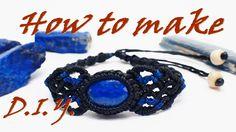 How to make a macrame knot bracelet lapis lazuli stone