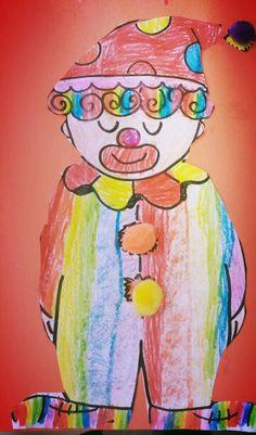 Clown preschool art theme circus