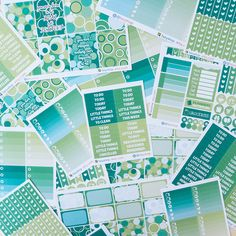 A La Carte -  March / Green Circle Theme by FasyShop on Etsy