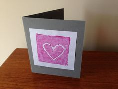 It's lovely to give or receive a homemade greetings card. This card is made by creating a stamp with recycled polystyrene packaging. We made a heart design – perfect for Valentine's day, Father's Day or Mother's Day – but any …