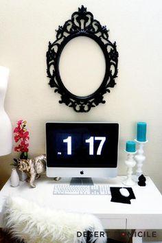 Desert Domicile: - Living Room Home Office...I love this!!
