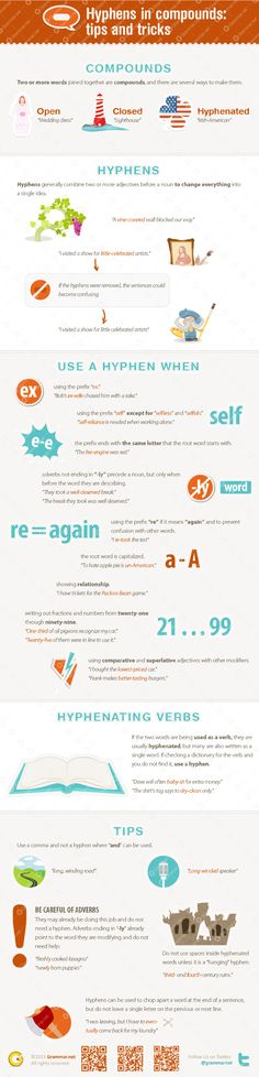 Hyphens in compounds: tips and tricks [infographic]