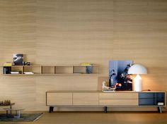 Solid wood storage wall AURA C5 Aura Collection by TREKU | design Angel Martí, Enrique Delamo