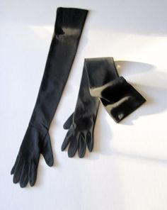 "Handmade Vintage Black Matte Silk Long Gloves ""Great Gatsby"" Style        http://nomadcreativenomad.storenvy.com/"