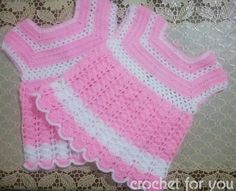 Crochet free pretty baby girls dress pattern for spring and summer