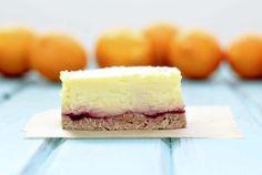 meyer lemon raspberry cheesecake bar. Yummy <3 Delicious
