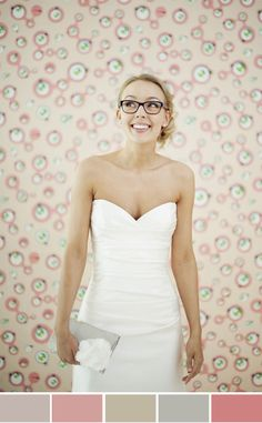 Bride wearing her glasses!!! Looks awesome - but don't know if I could pull it off - or want to pull it off!!