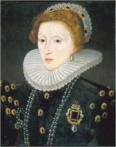 Portrait de la reine Élisabeth I, 1580 peintre inconnu après Zuccarro