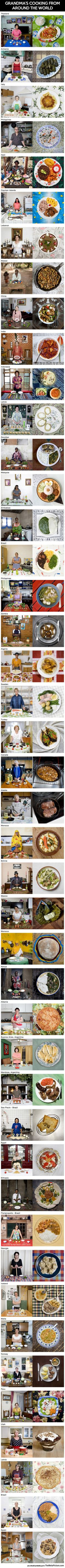 Grandma's Cooking In Different Parts Of The World
