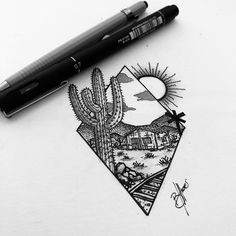X SERTÃO RAPOSA X blackwork concept art by @tigre.ilus #art #ilustration #flashtattoo #sketch #draw #blackwork #semiárido #desert #tattoo #sertão #earth