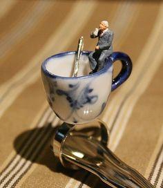 Kaffee-Ring *Der Schnelltrinker* - www.Klunkerfisch.de