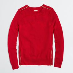 J.Crew Factory Warmspun Zip Sweater $44.00 (regular $88.00) also in gray and black