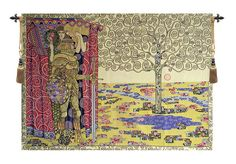 Knight with Tree of Life Wall Tapestry