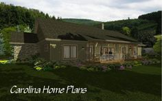 Country craftsman midsize house plan with large screened porch Open Floor House Plans, Porch House Plans, Craftsman House Plans, Bonus Rooms, Bedroom Layouts, Great Rooms, Master Suite, Porches, Square Feet